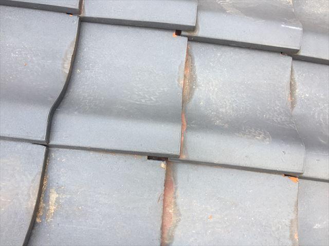 玉野市 屋根修理瓦のズレ