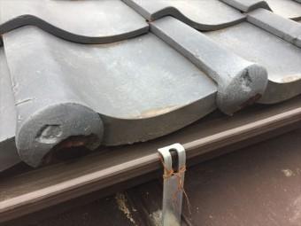 玉野市 屋根修理瓦寒割れ
