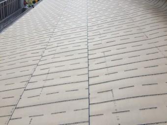 備前市 瓦屋根葺き替え工事 下葺き材の防水紙ルーフィング