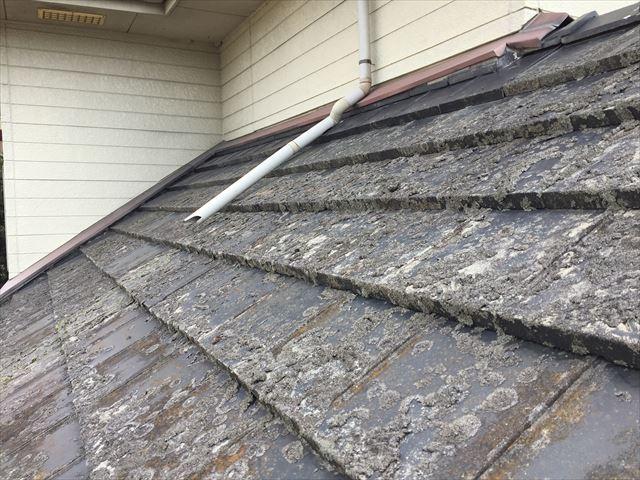 瀬戸内市 瓦屋根葺き替え工事 カバー工法 屋根点検 雨樋欠落