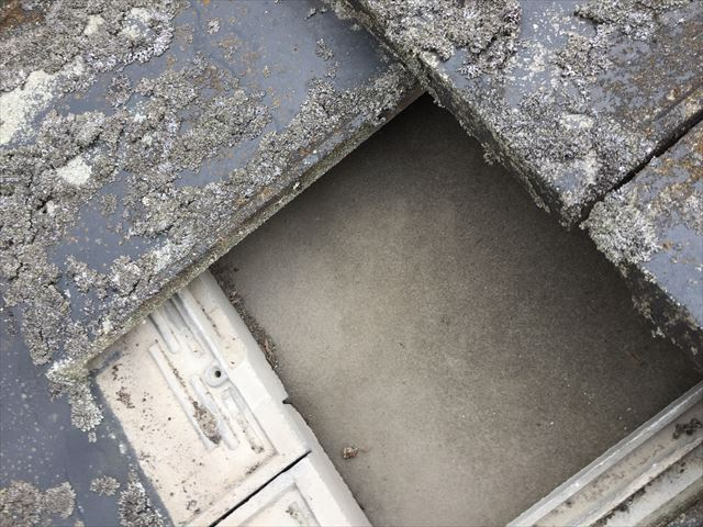 瀬戸内市 瓦屋根葺き替え工事 カバー工法 屋根点検