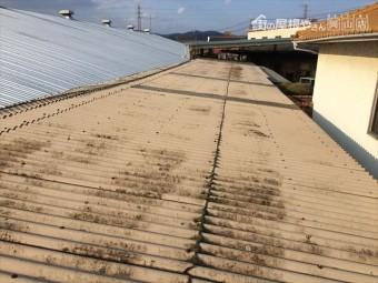 岡山市東区 スレート屋根修理の点検