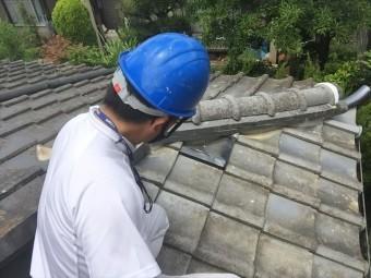 赤磐市 屋根工事 雨漏り修理 隅棟組み立て 完成