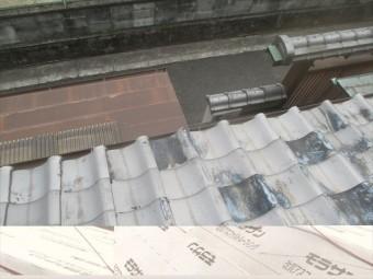 岡山市北区 屋根修理でずれ瓦直します。