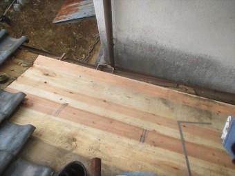 吉備中央町 12ミリの杉板張り替え