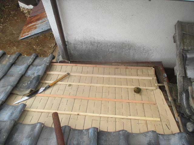吉備中央町 下葺き材は東和ルーフです。