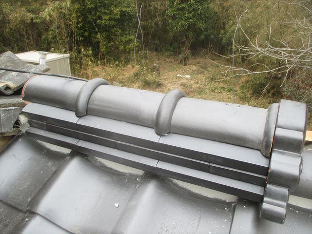 津山市で屋根修理 際熨斗工事