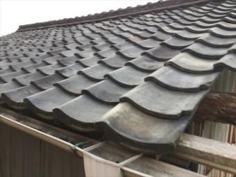 岡山市中区 屋根瓦修理 屋根診断士による点検 瓦の状態