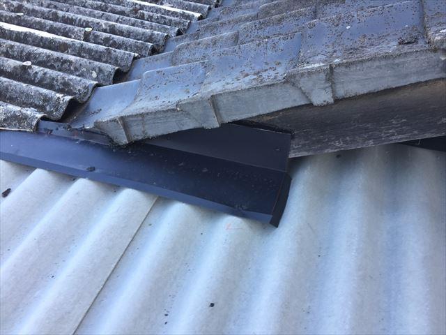 倉敷市 雨漏り修理 スレート取り換え