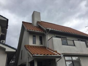 岡山市北区 急勾配の屋根の修理