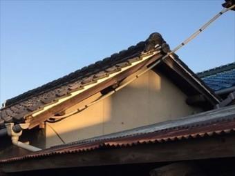 岡山市中区 雨漏り修理 漆喰工事