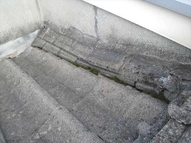 岡山市南区 屋根葺き替え のし瓦崩れかけ