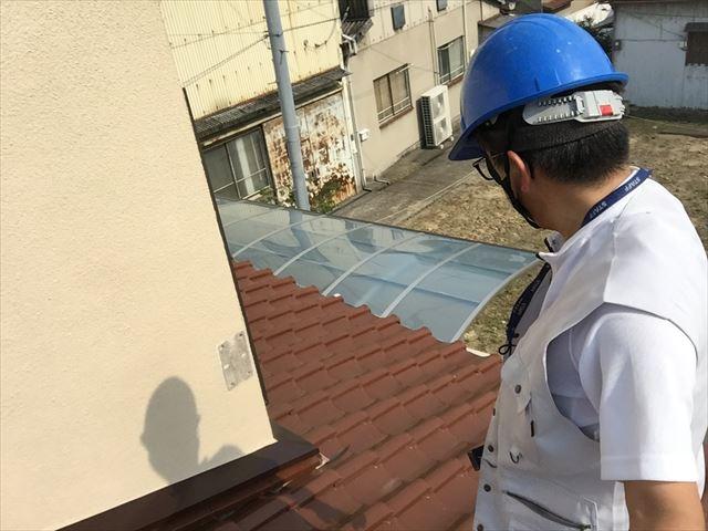 岡山市北区 割れ瓦補修工事 屋根点検