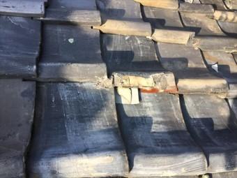 瀬戸内市 瓦葺き替え工事 屋根点検 割れ瓦