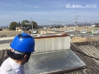 岡山市南区 太陽熱温水器撤去点検