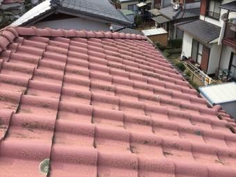 岡山市南区 屋根葺き替え工事する前の瓦はセメントのS型の瓦です。