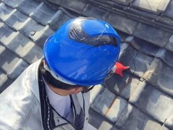 瀬戸内市 瓦葺き替え工事 点検の模様