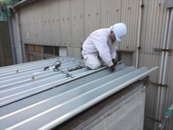 倉敷市 屋根修理 折板屋根取り替え 本体取り替え