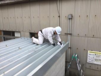 倉敷市 屋根修理 折板屋根取り替え 清掃