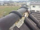 倉敷市 屋根修理棟丸瓦の補修