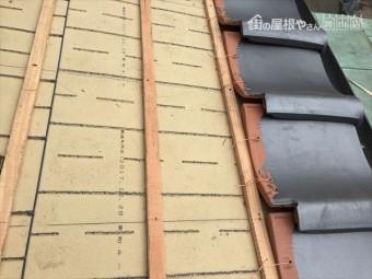 岡山市南区 瓦屋根葺き替え工事 瓦葺き