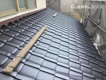 岡山市南区 屋根工事 雨漏り修理 1階地伏せ完了