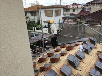 岡山市南区 屋根工事 雨漏り修理 瓦揚げ・瓦配り