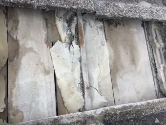 岡山市北区 下地板劣化