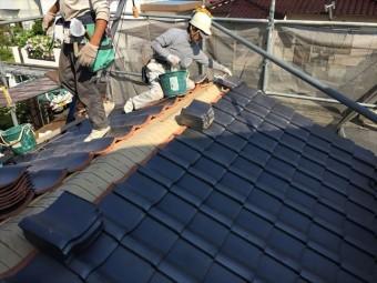 岡山市南区 屋根工事 雨漏り修理 1階地伏せ