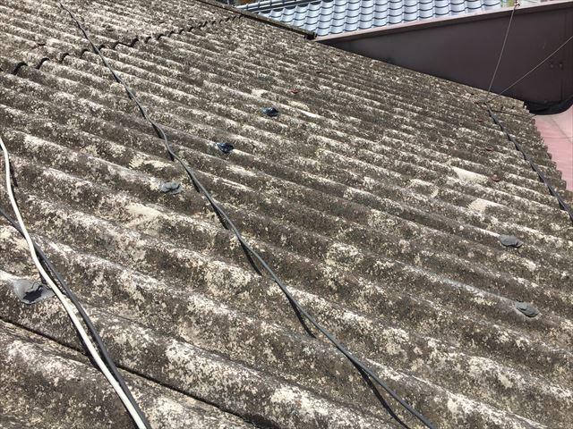 岡山市中区 スレート屋根 屋根点検