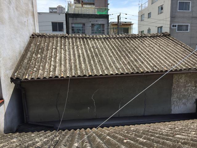 岡山市北区で天井から雨水がポタリ。スレート屋根の雨漏り点検。