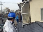岡山市中区 屋根塗装工事 水洗いです