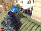 玉野市 瓦屋根吹き替え工事 屋根点検