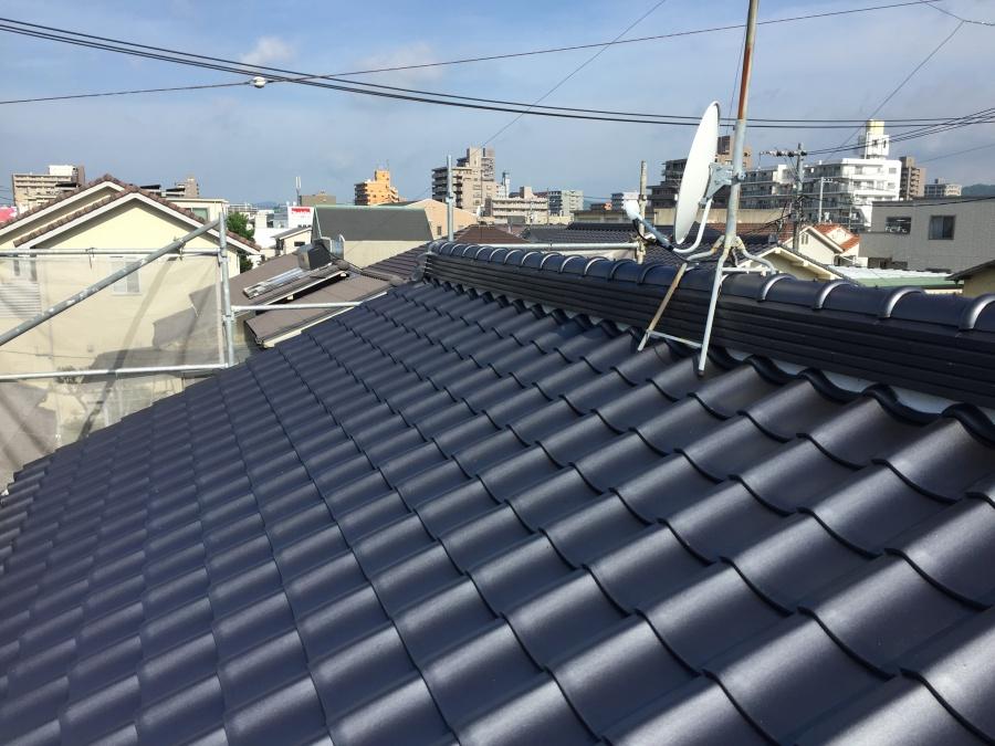 岡山市北区 屋根葺き替え工事 完工後