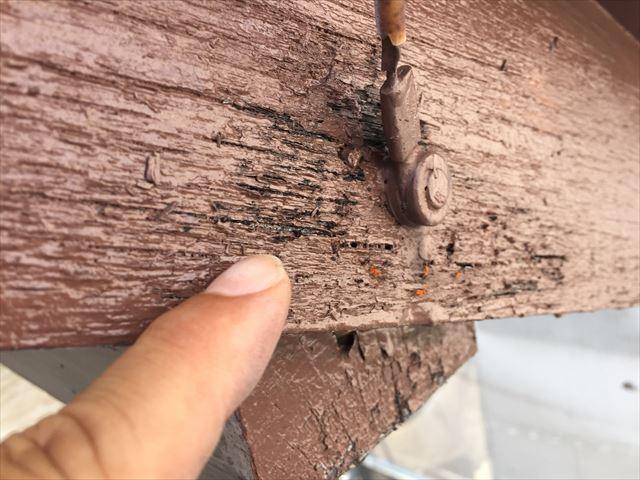 岡山市北区 外壁塗装  木部傷み