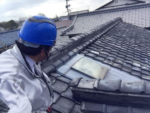 岡山市北区で日本瓦が傷んできたので屋根瓦葺き替え/点検依頼