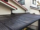 岡山市北区 波板剥がし 養生足場を建てるために