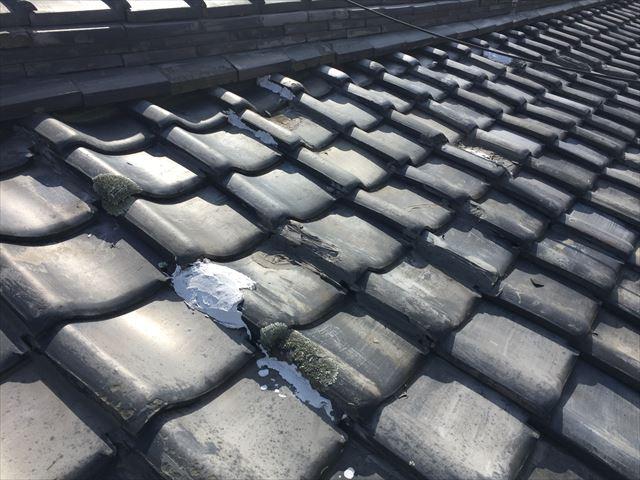 岡山市北区で軽い板金屋根に取り替える葺き替え工事の点検依頼