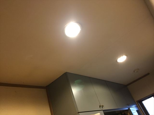 赤磐市 照明器具から雨水が
