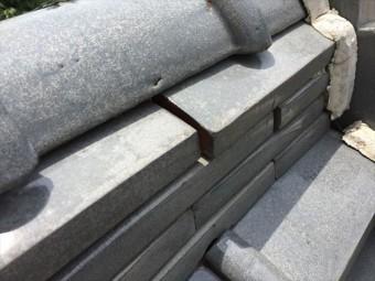 赤磐市で雨漏り修理 棟の熨斗ズレ
