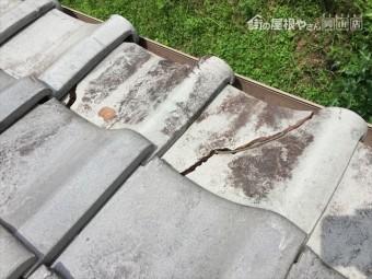 赤磐市で雨漏り修理 割れ瓦