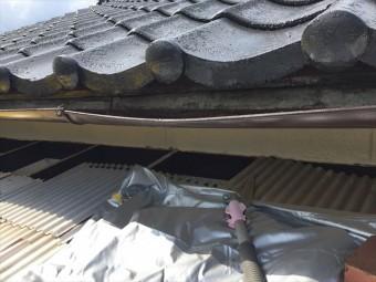 岡山市中区テラスの波板張替