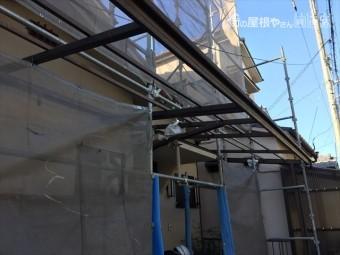 岡山市北区 スーパーガルテクトの工事終わり足場解体