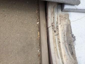 赤磐市で雨漏り修理 瓦が割れています