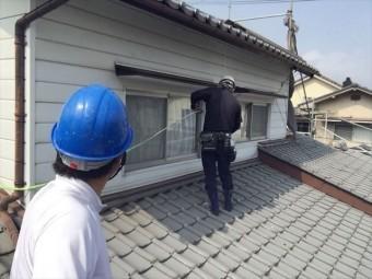 岡山市北区 外壁塗装 サッシ廻り養生 確認