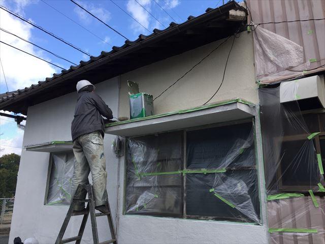 岡山市北区 外壁塗装ローラー仕上げです。
