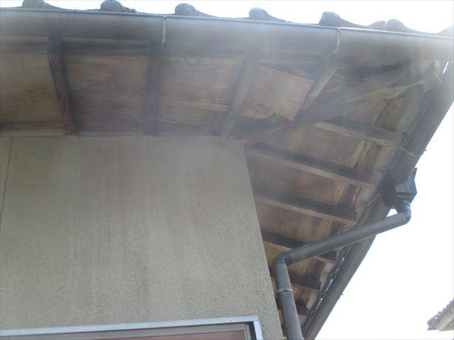赤磐市 屋根修理 調査依頼 外の野地板腐っています