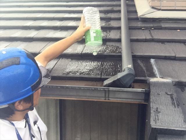 岡山市南区 雨どい補修