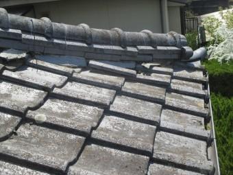 赤磐市 屋根修理 調査依頼 隅棟の崩れ