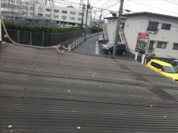 岡山市南区で波板から雨漏り